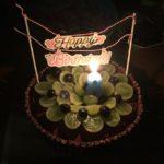 コストコのチョコチップやグリーンシードレスグレープを使ったバースデーケーキ♪