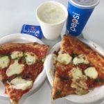 コストコフードコートで食べたもの(1/2幕張)マルゲリータピザ・クラムチャウダー