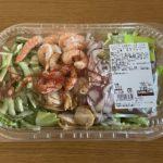 【シュリンプ&ホタテチョレギサラダ☆たっぷり海鮮にドレッシングが美味!】